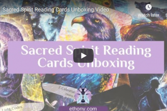 Sacred Spirit Reading Cards Unboxing Video